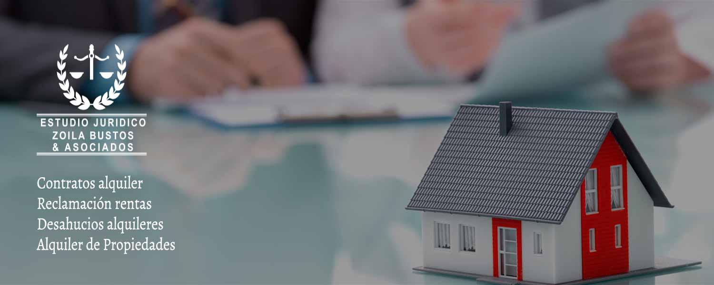 Contrato alquiler, Reclamación rentas, Desahucios alquileres, Alquiler de Propiedades